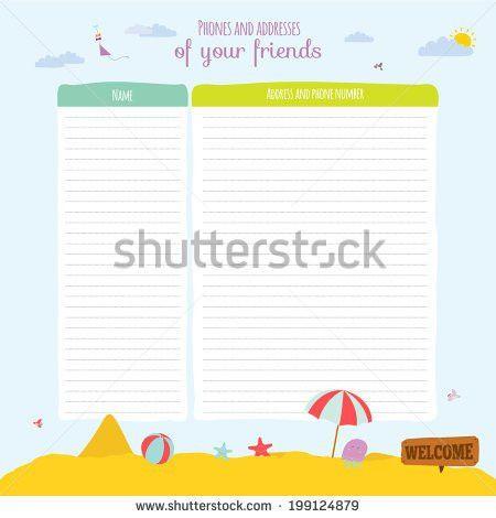 Vector Design Elements Notebook Diary Organizer Stock Vector ...