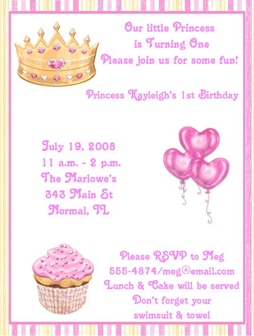 Birthday Party Invite Wording - Themesflip.Com