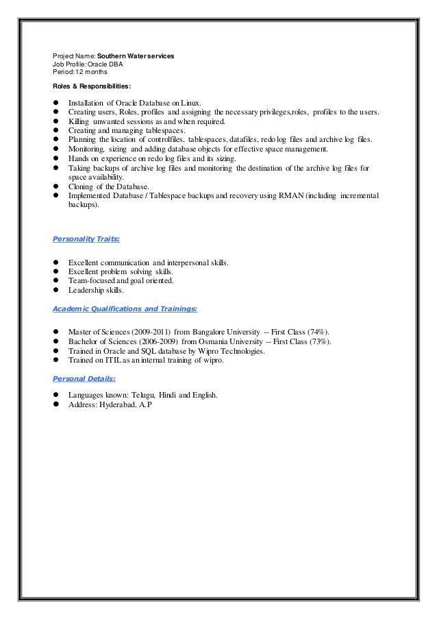 systems administrator resume examples bestsellerbookdb. oracle dba ...