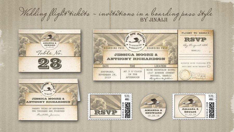 read more – WEDDING PLANE TICKET – INVITATION – BOARDING PASS ...