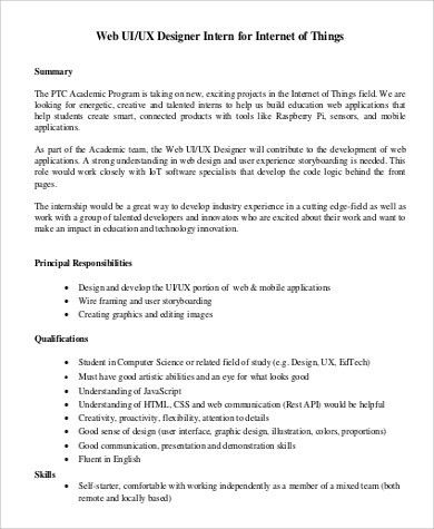 UX Designer Job Description Sample - 9+ Examples in Word, PDF