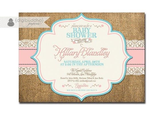 Country Baby Shower Invitations | badbrya.com