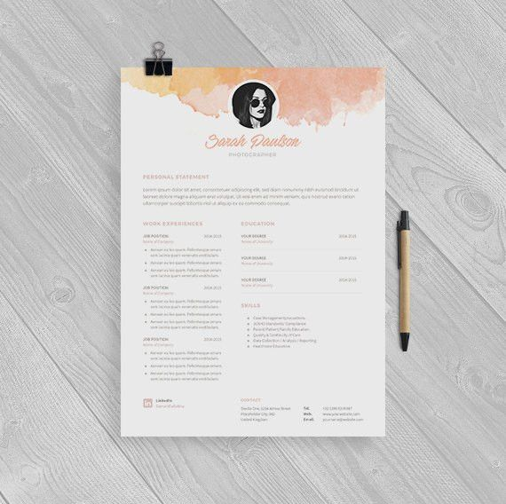 Creative Resume Template Instant Download + Cover Letter | Format ...