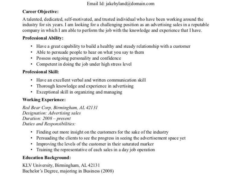 Objective For A Resume - Resume Example
