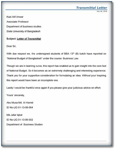 5+ Letter Of Transmittal Examples – Download Sample Templates ...