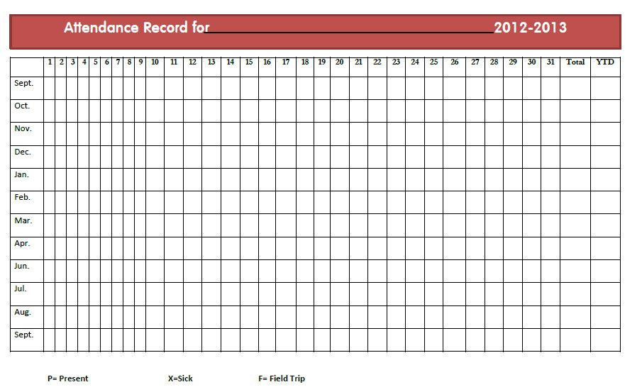 9 Best Images of Attendance Roster Form - Free Printable Teacher ...
