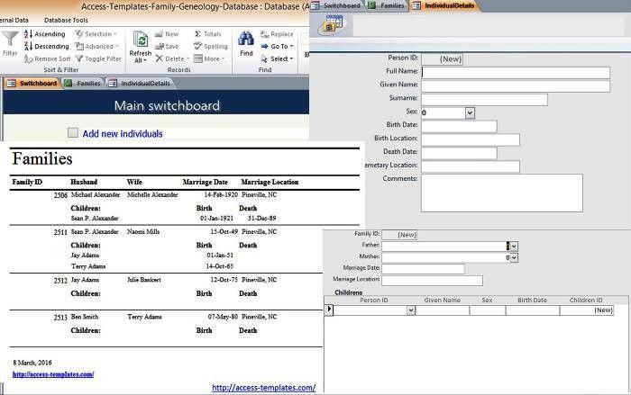 Download Microsoft Access Template Free Download | rabitah.net