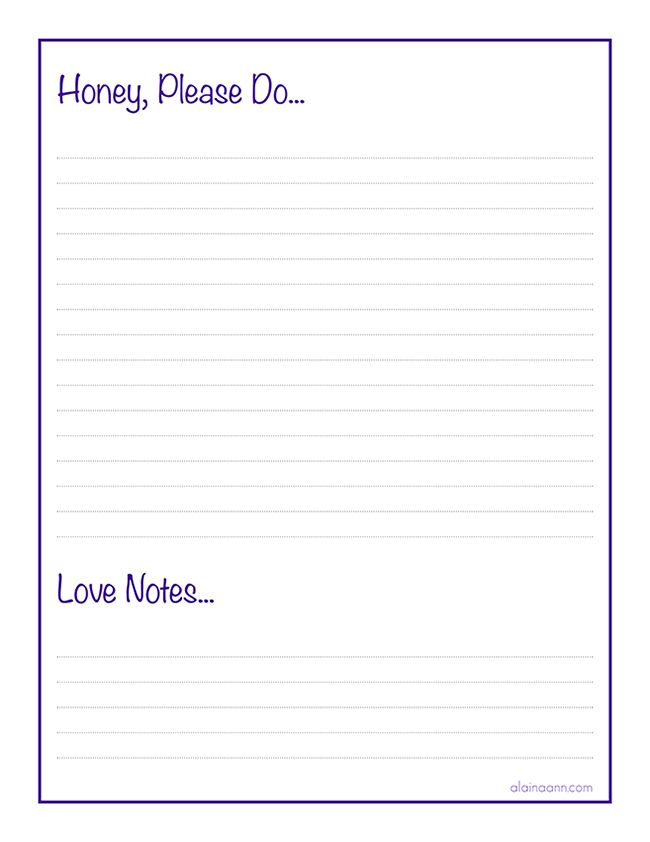 Honey Do List :: Organized Family {Free Printable} :: Alaina Ann ...
