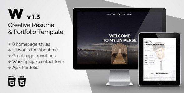 White - Creative Resume & Portfolio Template by CreaboxThemes ...