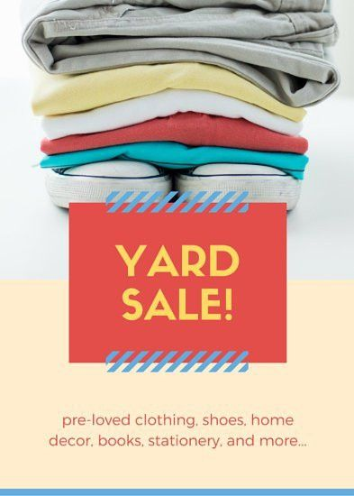 Photo on Top Yard Sale Flyer - Templates by Canva