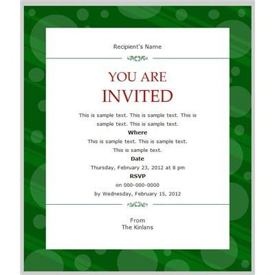 Business Invitation Templates | Free Invitation Templates