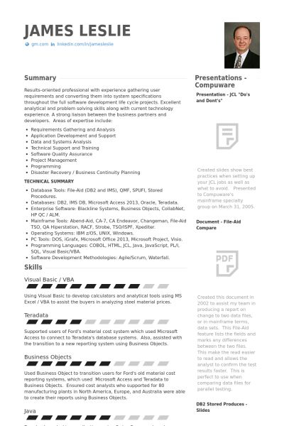 Purchasing Resume samples - VisualCV resume samples database