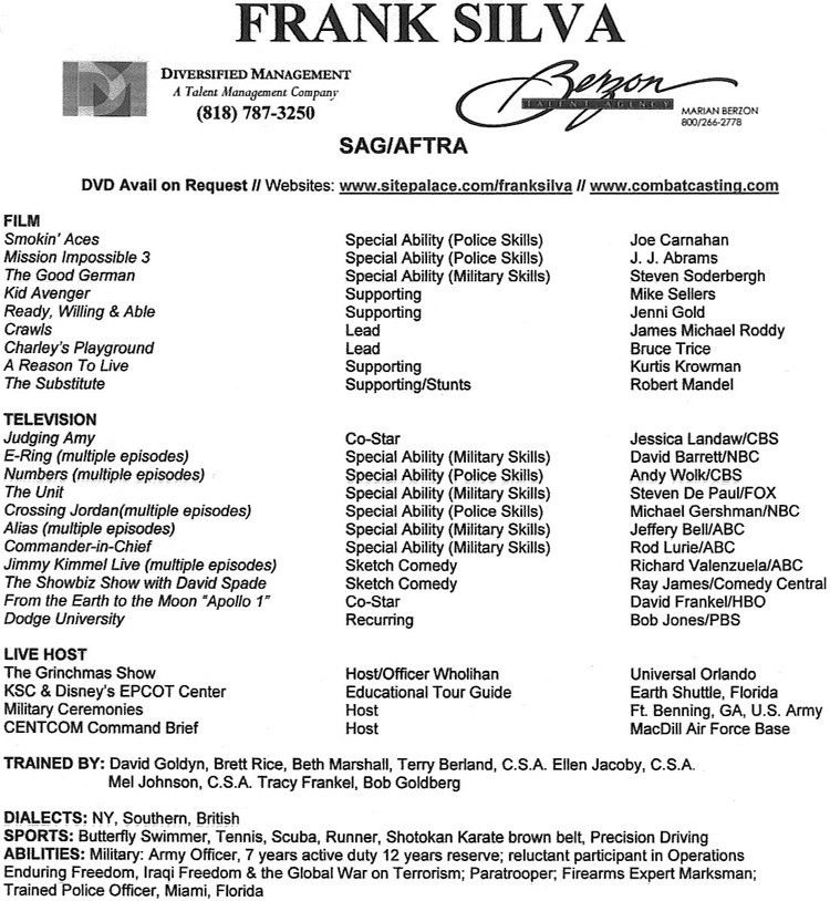 Special Skills For Acting Resume - Best Letter Sample