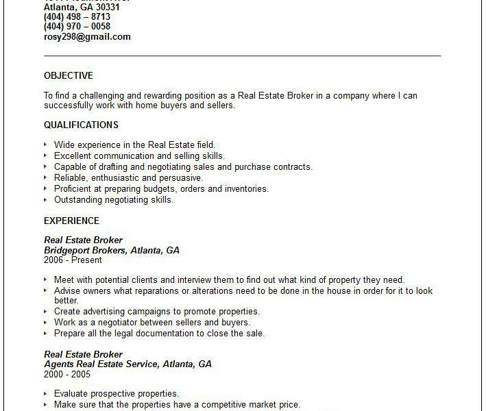 100+ Resume Realtor - Professional Real Estate Agent Resume ...