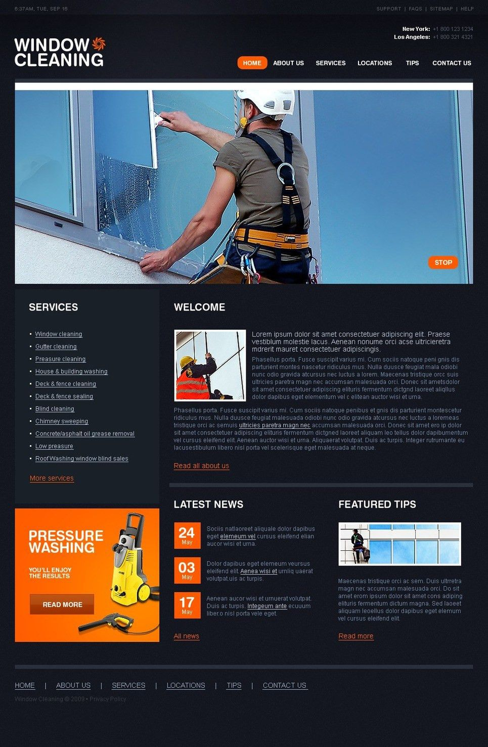 Window Cleaning Website Template #25359