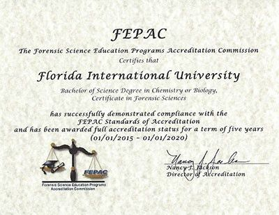Certificate in Forensic Science   International Forensic Research ...