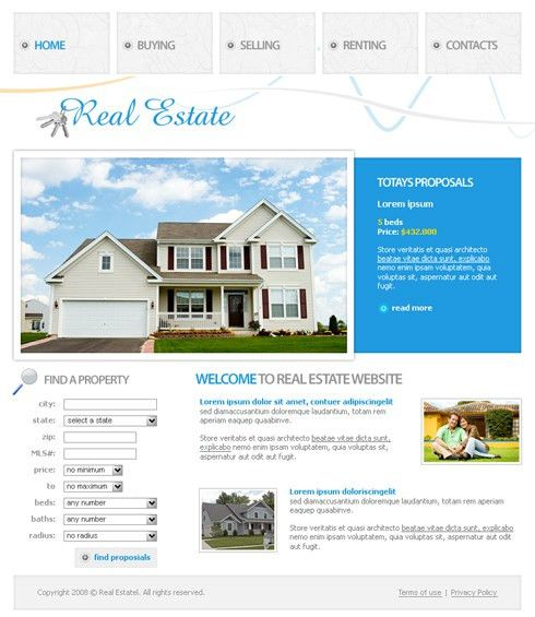 3617 - Real Estate & Building - Website Templates - DreamTemplate