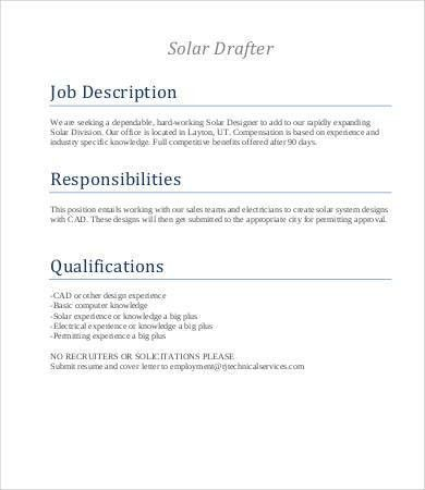 Drafter Job Descriptions - 9+ Free Word, Excel, PDF Format ...