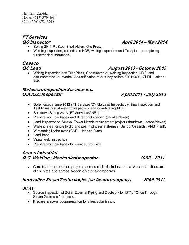 Hermann Zapletal - Resume 2015