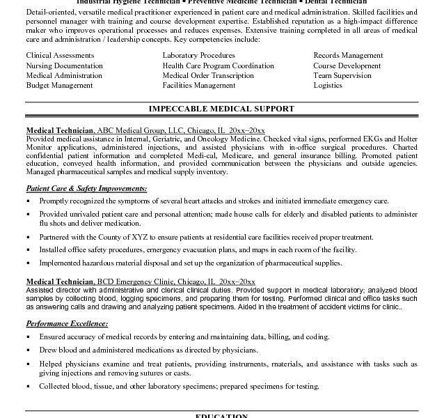 It Technician Resume - Resume Example