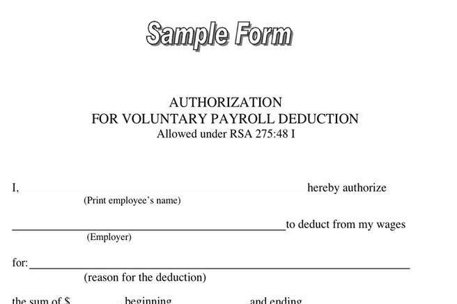 Payroll Authorization Form. Payroll Deduction Form | Download Free ...