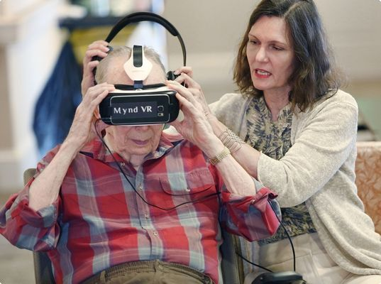 Assisted living tries virtual reality to help seniors with ...