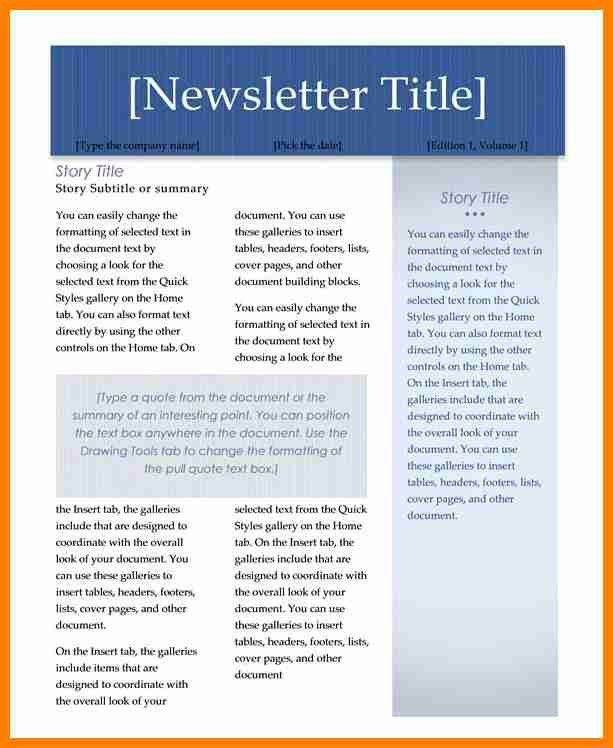 8+ free newsletter templates for microsoft word | assembly resume