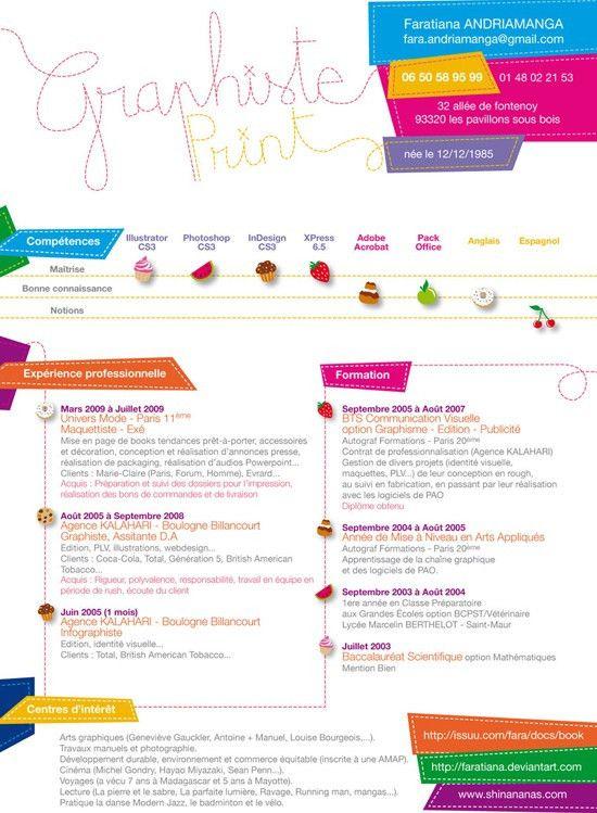 Attractive CV/Resume Design Inspiration | RESUME | Pinterest ...