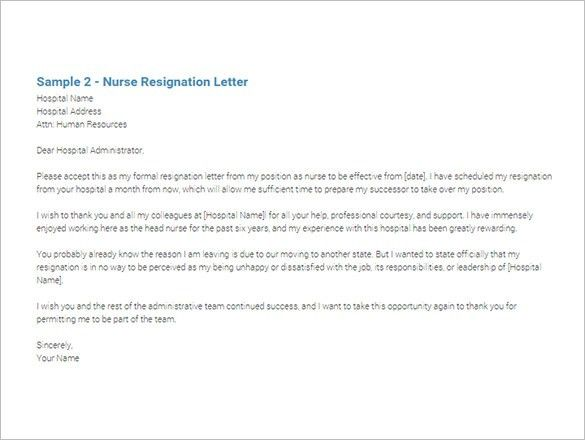 Immediate Resignation Letter Template – 7+ Free Word, Excel, PDF ...