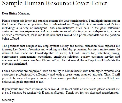 Human Resources Cover Letter Sample | Resume Genius. Jobs | Easy SEO  Backlinks! | Page 2
