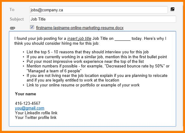 5+ how to write a job application email | agile resume