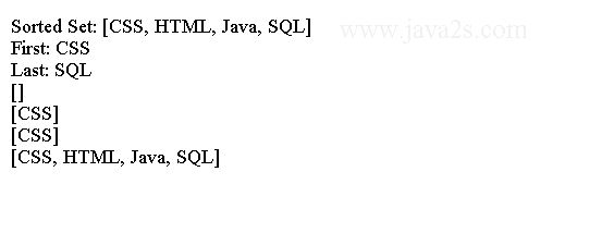 Java Collection Tutorial - Java Sorted Set