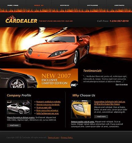Sixthlife: 15+ Car Dealers Website Templates