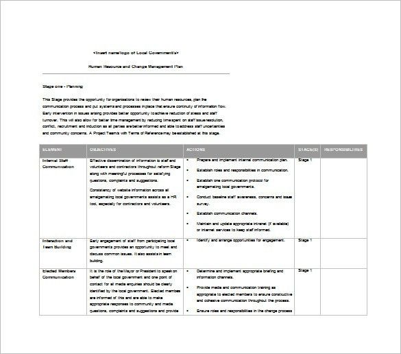 9+ Change Management Plan Templates – Free Sample, Example, Format ...