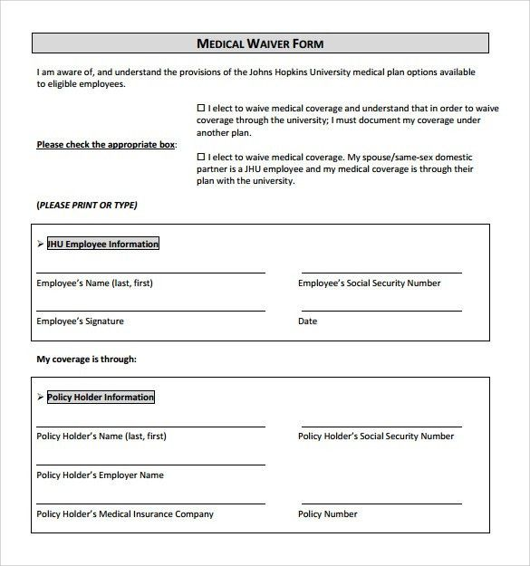10+ Medical Waiver Forms - Free Sample, Example, Format
