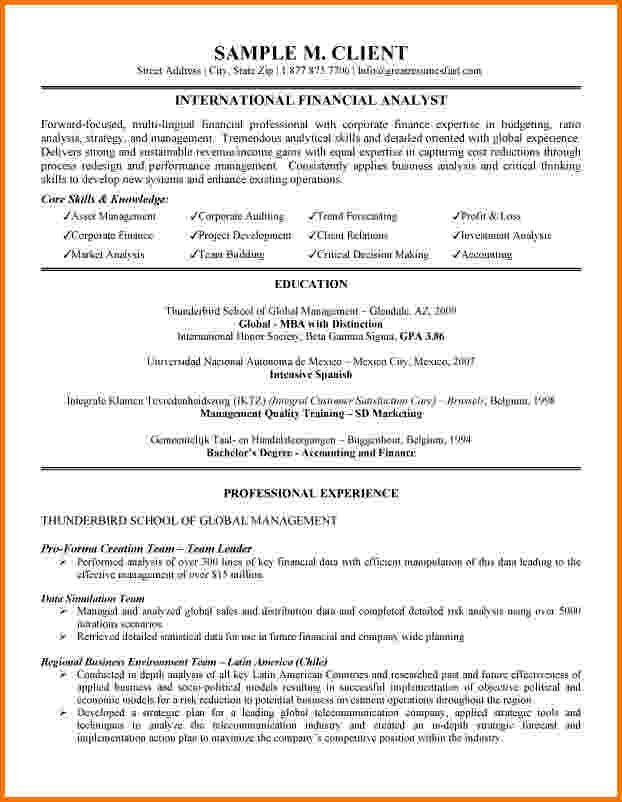 7+ financial analyst cv example | Financial Statement Form