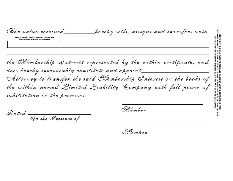 Standard Wording Stock Certificates