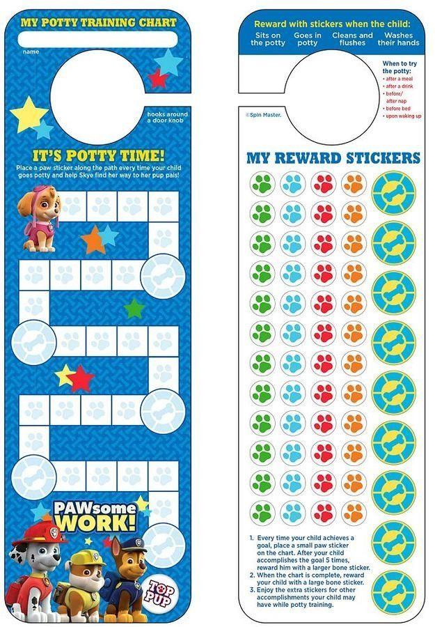Paw Patrol Potty Training Chart & Stickers | Paw Patrol Gifts For ...