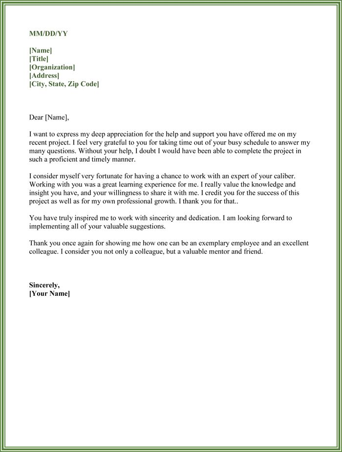 Thank You for Your Support Letter - 5 Best Samples