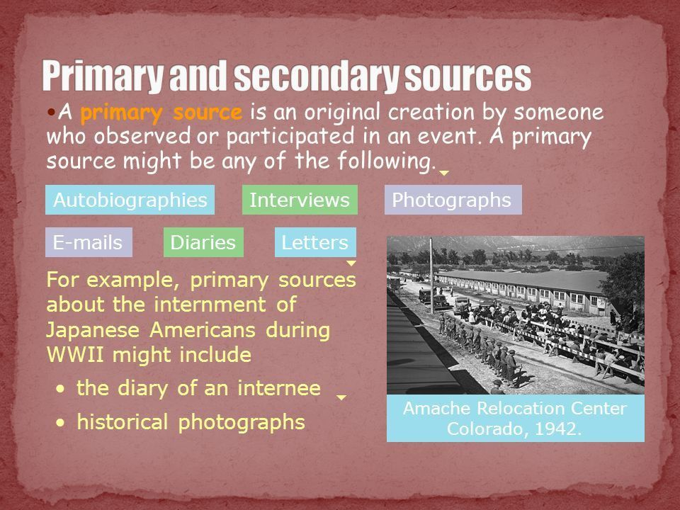 Introduction Primary and secondary sources Searching for sources ...