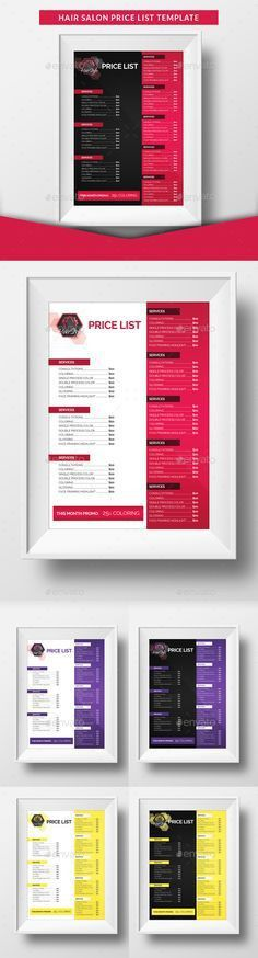 Price List Template – 19+ Free Word, Excel, PDF, PSD Format ...