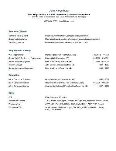 30 Basic Resume Templates