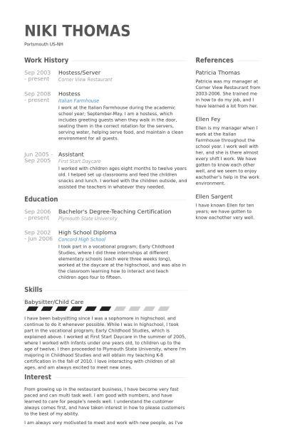 sample hostess resume unforgettable host hostess resume examples