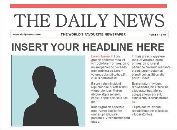 Newspaper Outline Template   The Letter Sample