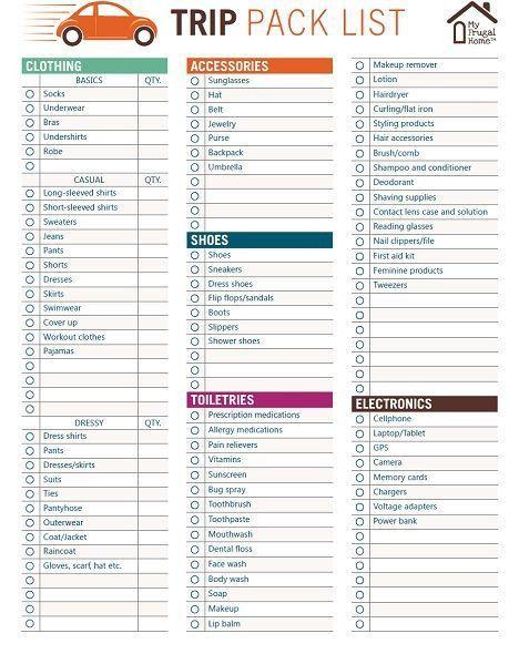 Best 25+ Packing List Template Ideas On Pinterest | Travel Packing .  Packing Template