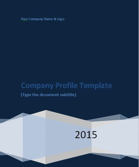 Company Profile Template Word Download - Project Management ...