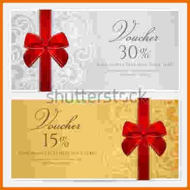 Gift Coupon Template.voucher Gift Certificate Coupon Template With ...