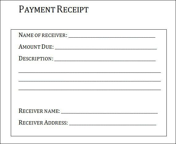 Samples Of Receipts Receipt Template 122 Free Printable Word – Free Printable Receipts for Services