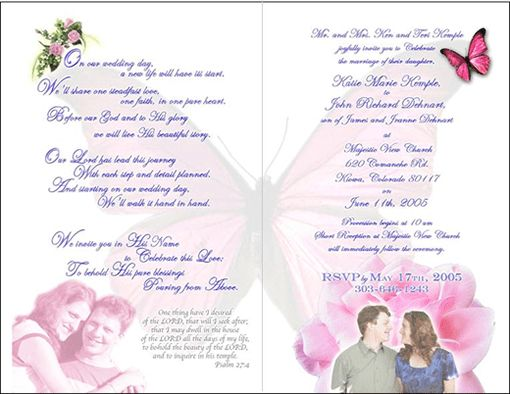 Sample Of Wedding Invitation Letter - iidaemilia.Com