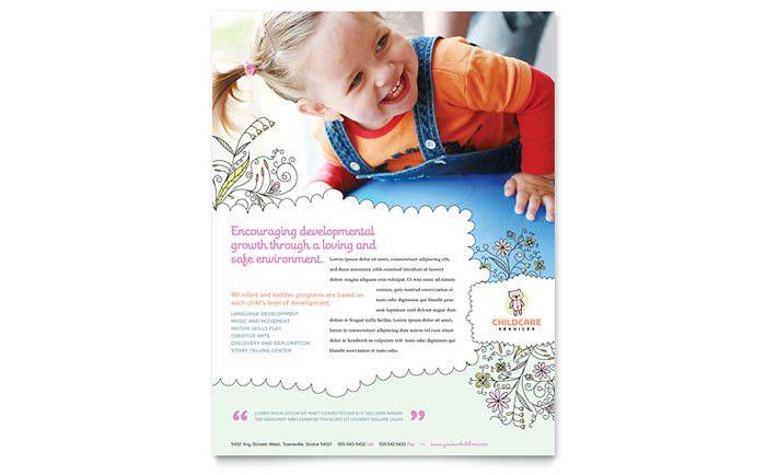Babysitting & Daycare Flyer Template Design